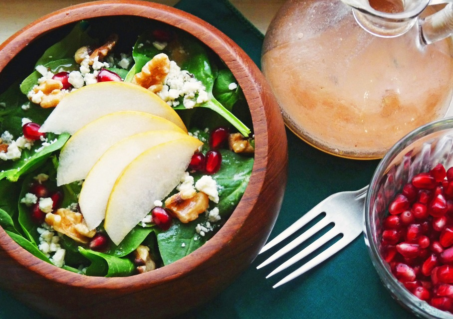 Gorgonzola Spinach Salad