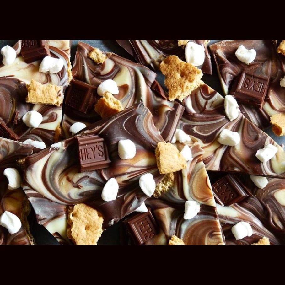 Triple Chocolate S'mores Bark