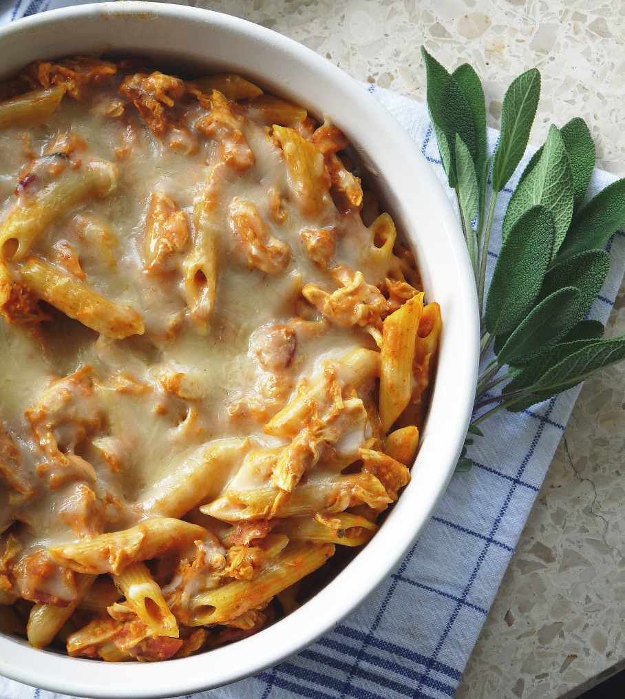 Baked Chicken Bacon Pumpkin Pasta